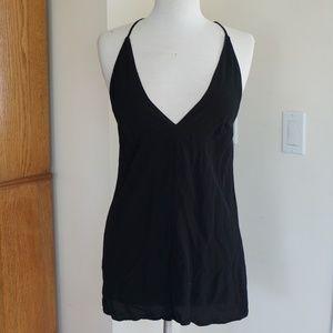 Reformation Black V Neck Tank Dress Size Small
